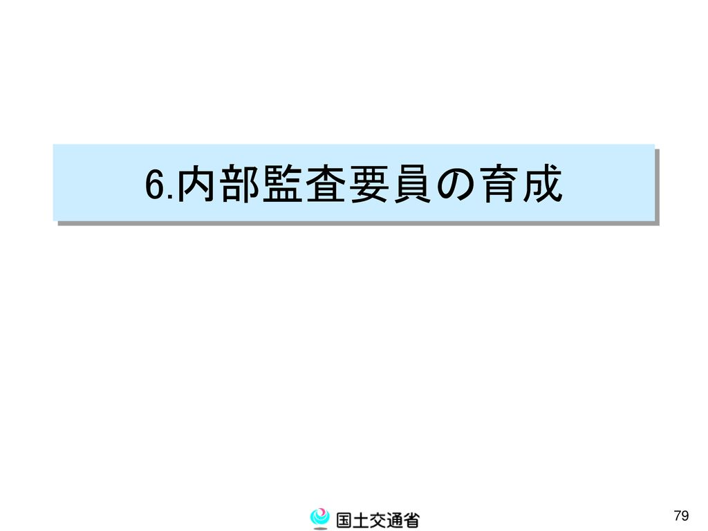 6.内部監査要員の育成