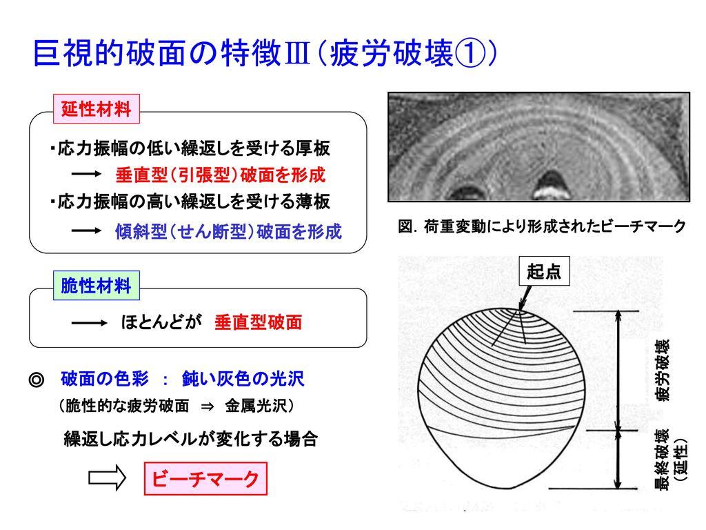 図.荷重変動により形成されたビーチマーク