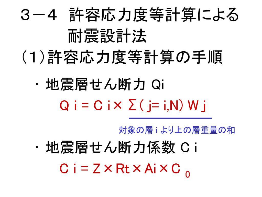 3-4 許容応力度等計算による 耐震設計法 (1)許容応力度等計算の手順