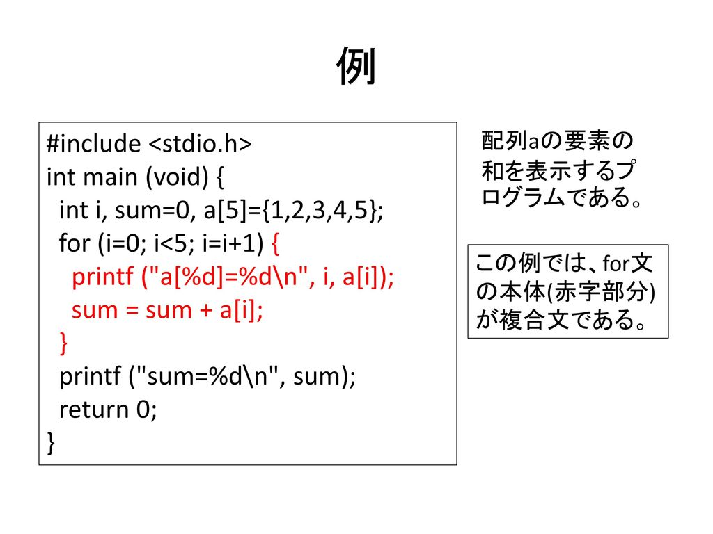 例 #include <stdio.h> int main (void) {