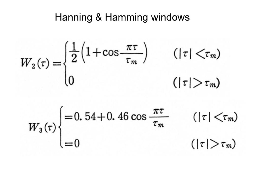 Hanning & Hamming windows