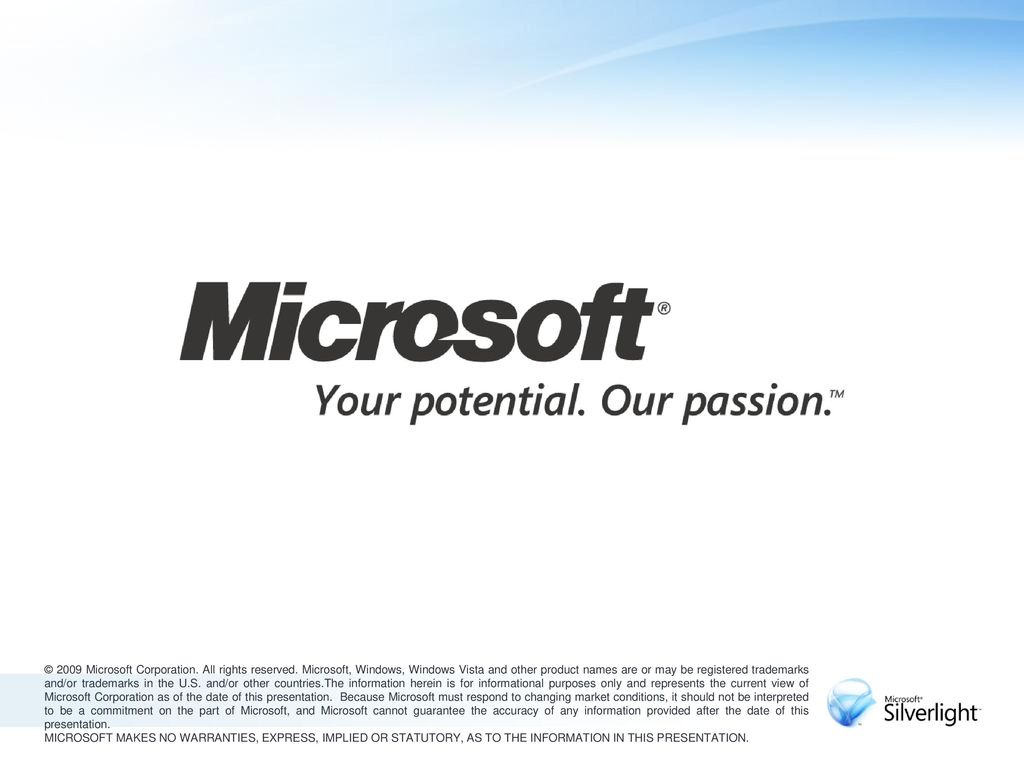 © 2009 Microsoft Corporation. All rights reserved