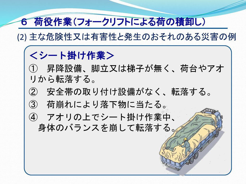 6 荷役作業(フォークリフトによる荷の積卸し)