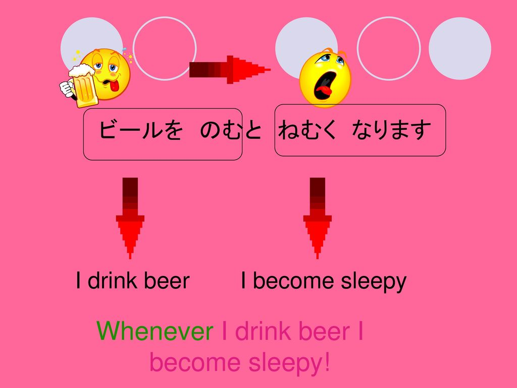 Whenever I drink beer I become sleepy!