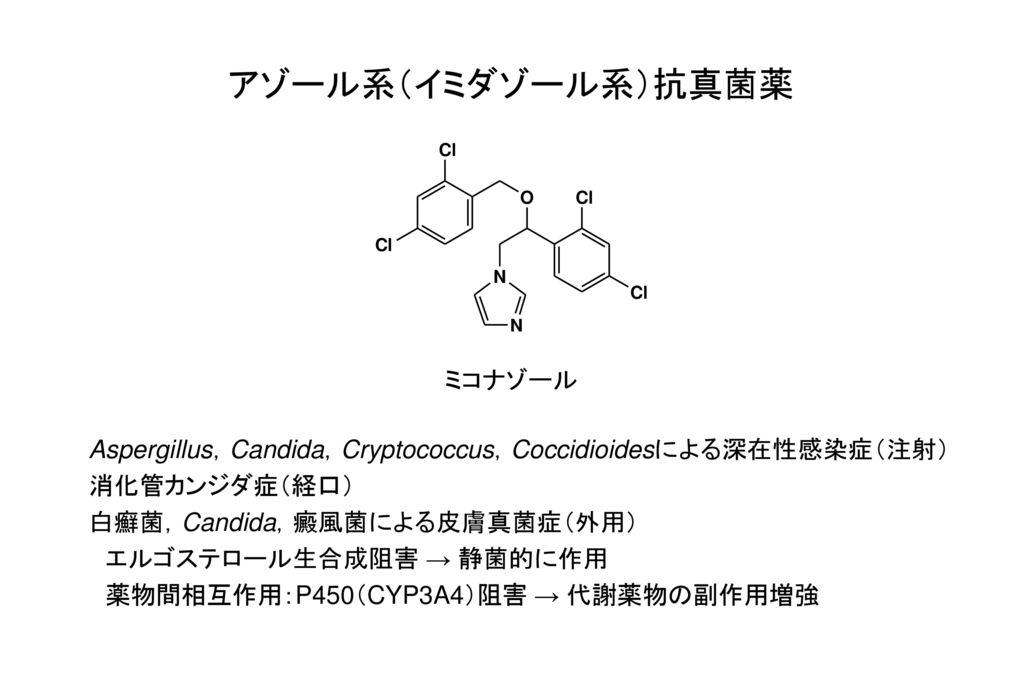 アゾール系(イミダゾール系)抗真菌薬 ミコナゾール