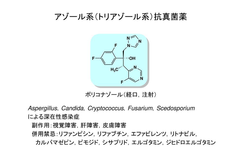 アゾール系(トリアゾール系)抗真菌薬 ボリコナゾール(経口,注射)