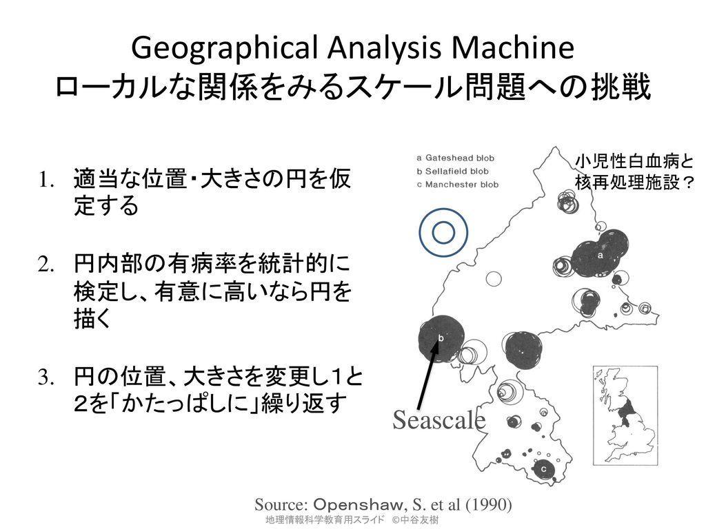 Geographical Analysis Machine ローカルな関係をみるスケール問題への挑戦