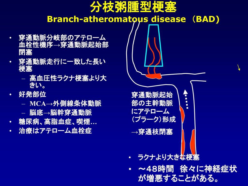 Branch-atheromatous disease (BAD)