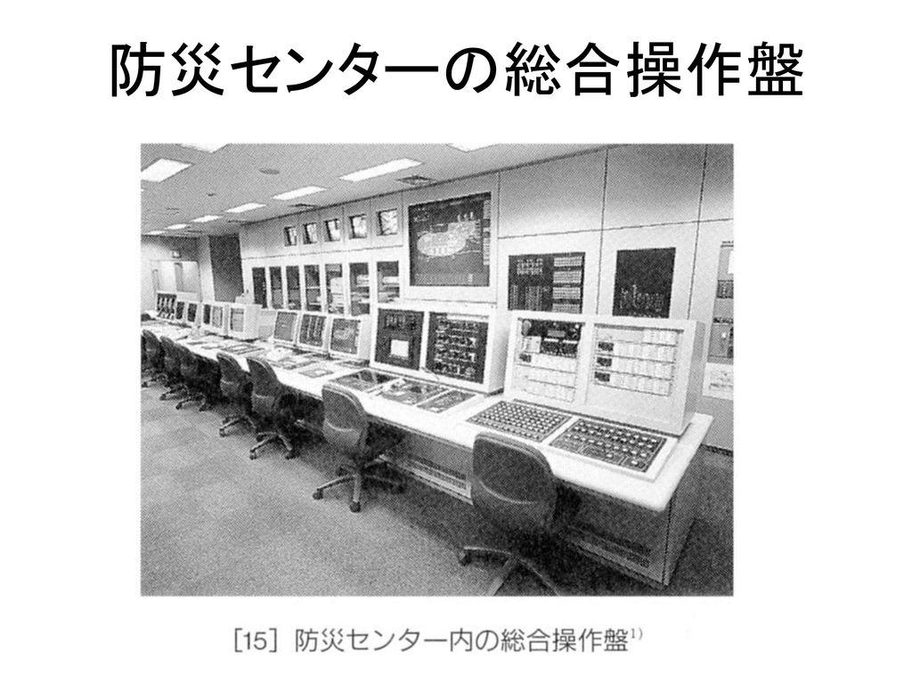 防災センターの総合操作盤