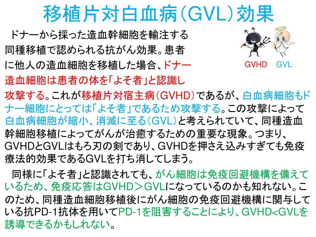 移植片対白血病(GVL)効果