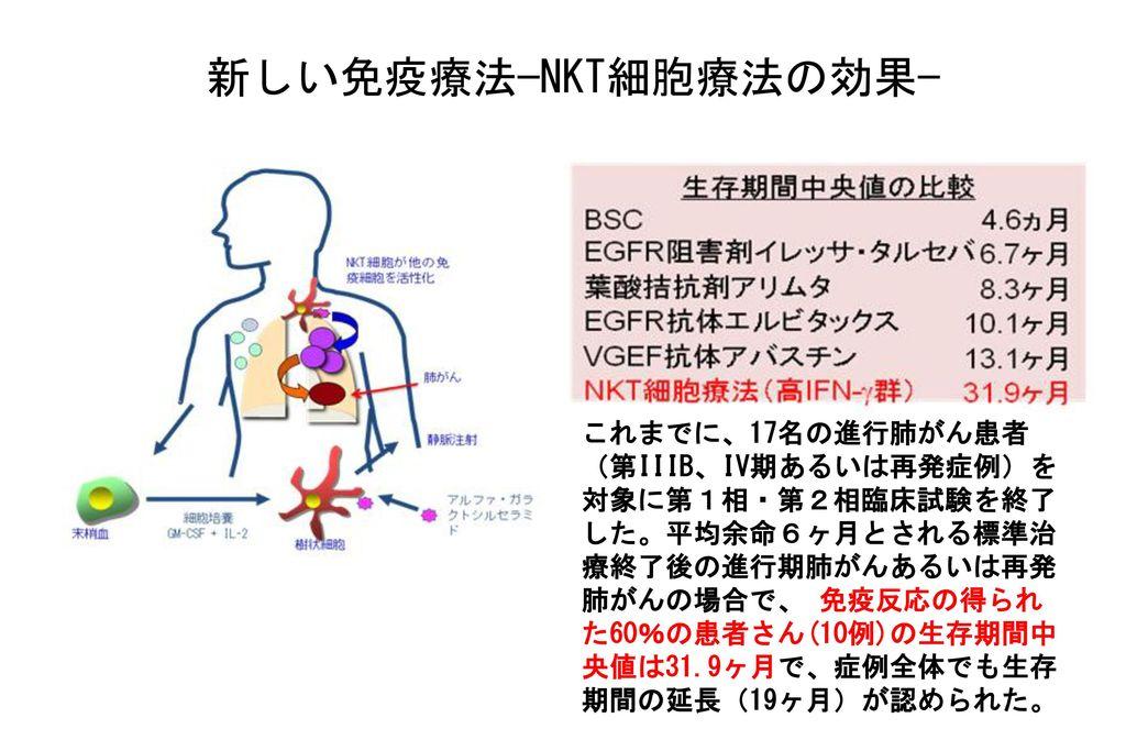 新しい免疫療法−NKT細胞療法の効果−
