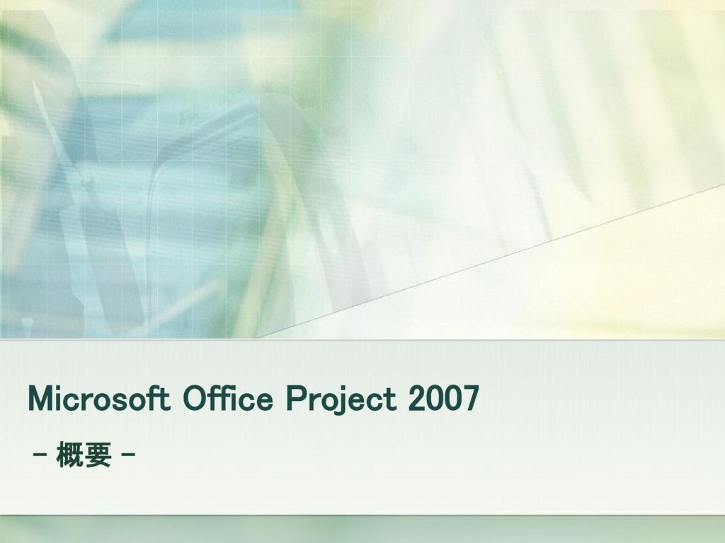 Microsoft Office Project 2007