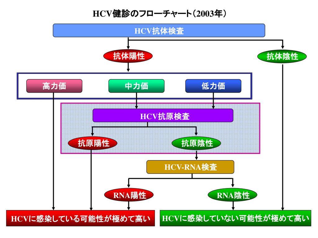 HCVに感染していない可能性が極めて高い