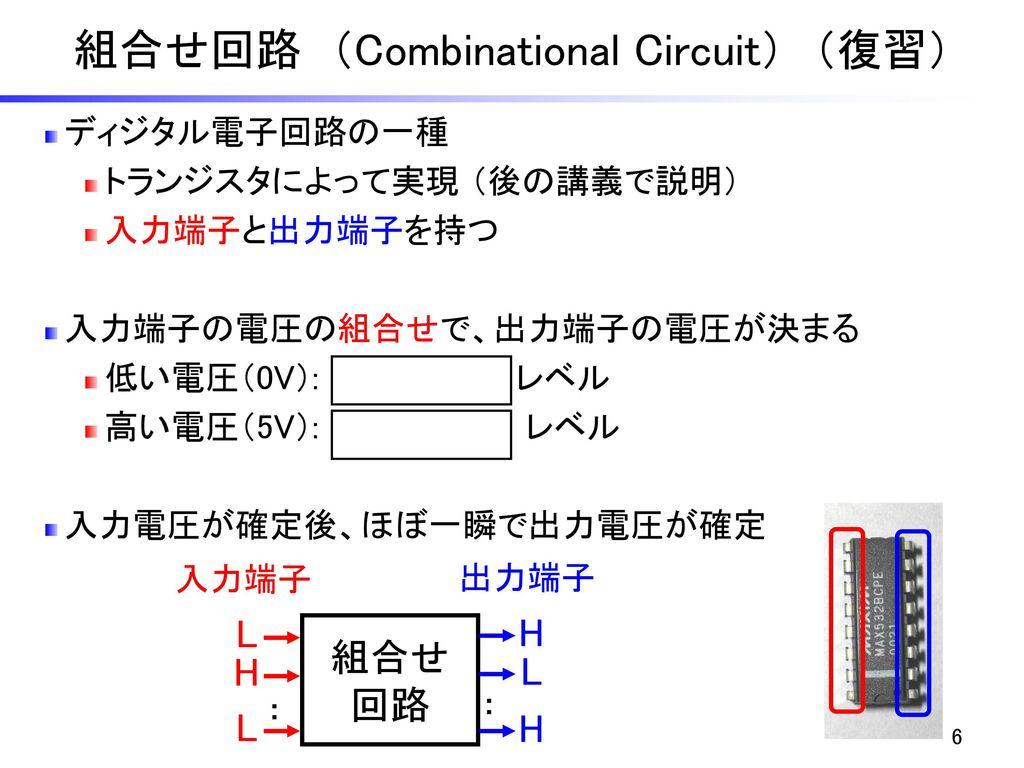 組合せ回路 (Combinational Circuit) (復習)