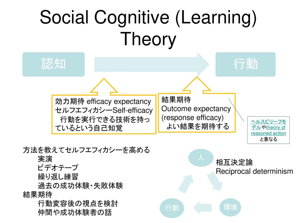 Social Cognitive (Learning) Theory