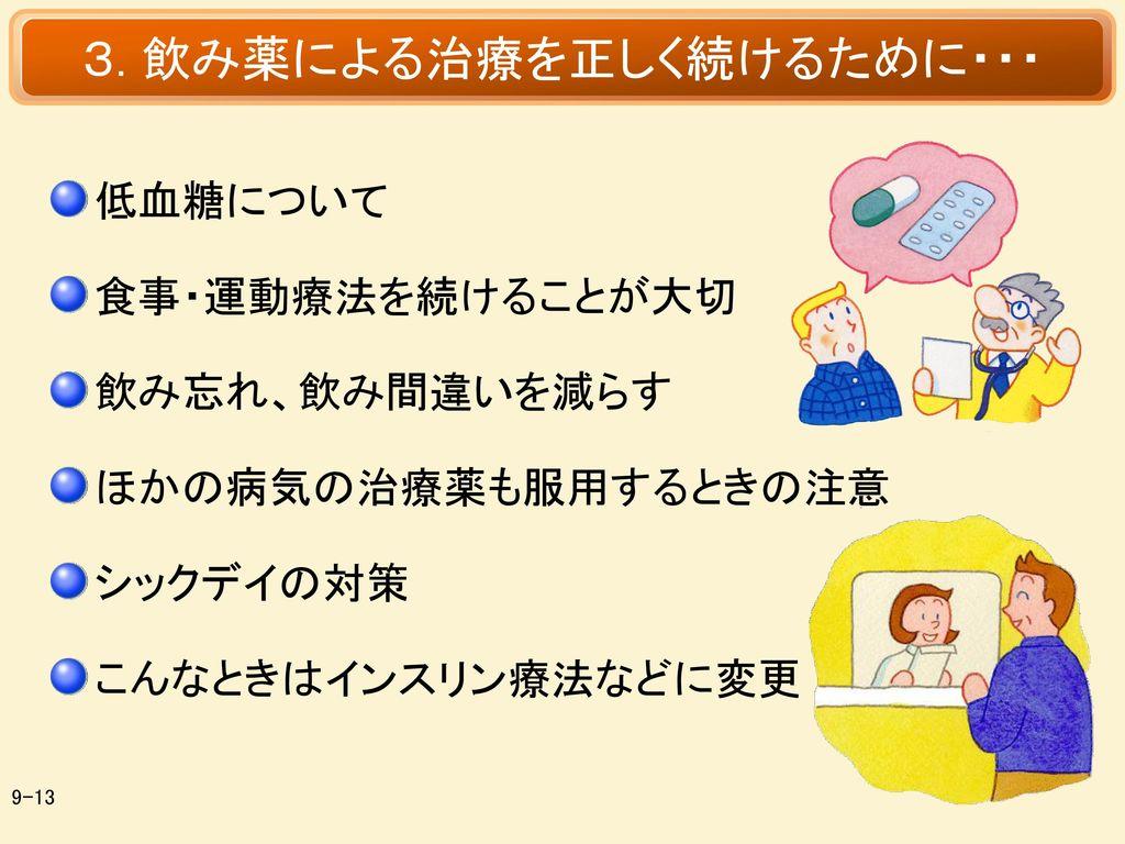 3. 飲み薬による治療を正しく続けるために・・・
