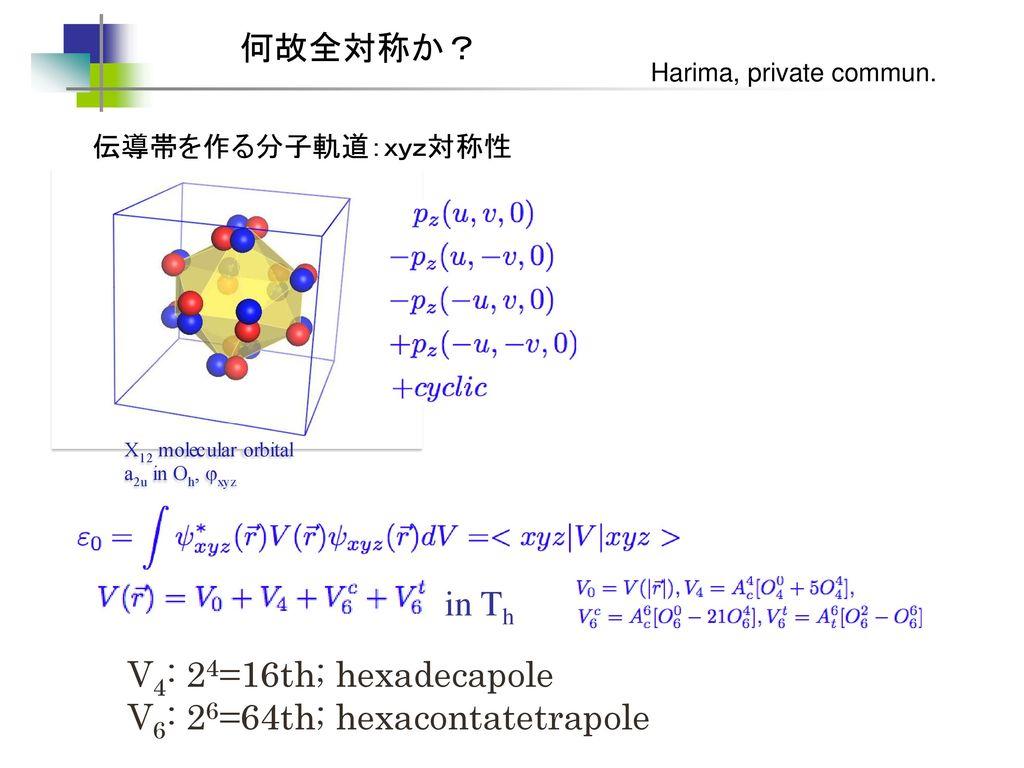 V6: 26=64th; hexacontatetrapole