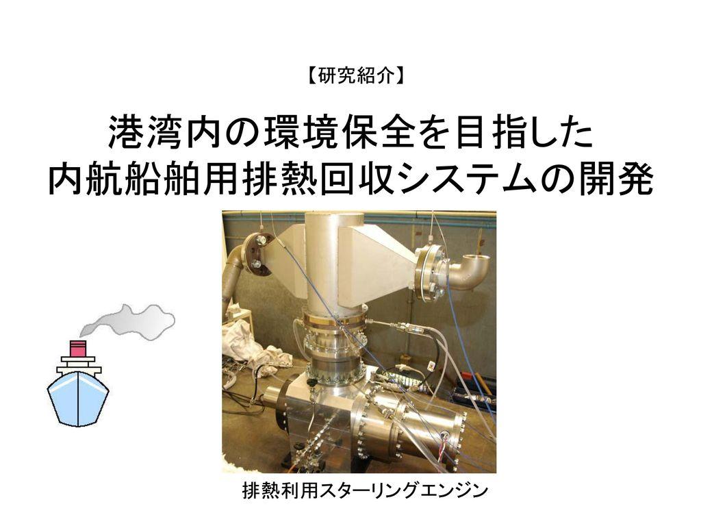港湾内の環境保全を目指した 内航船舶用排熱回収システムの開発