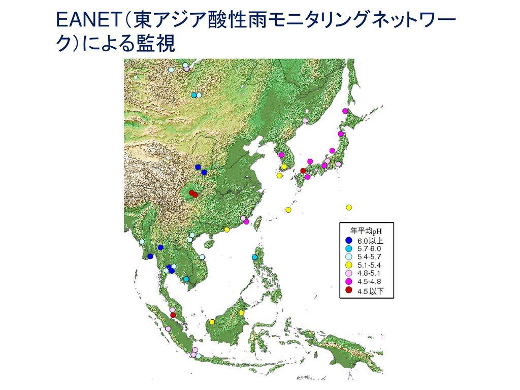 EANET(東アジア酸性雨モニタリングネットワーク)による監視