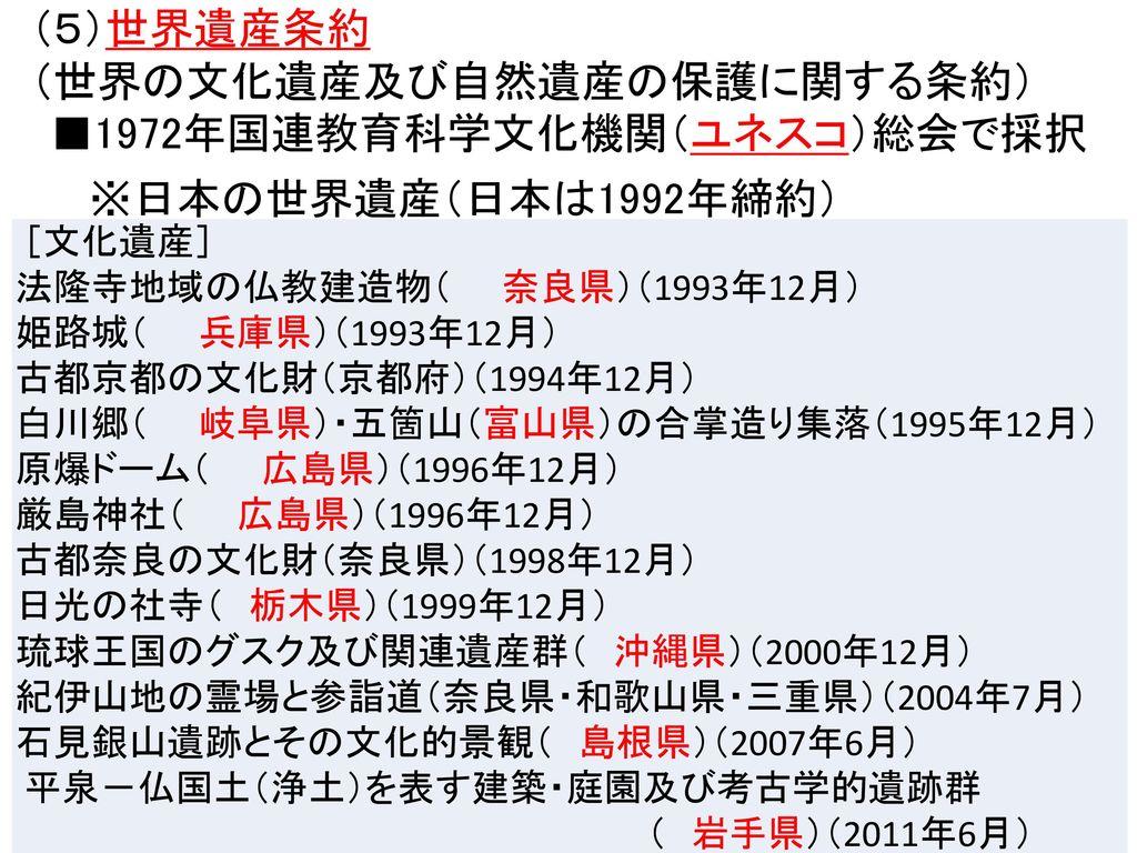 (世界の文化遺産及び自然遺産の保護に関する条約)
