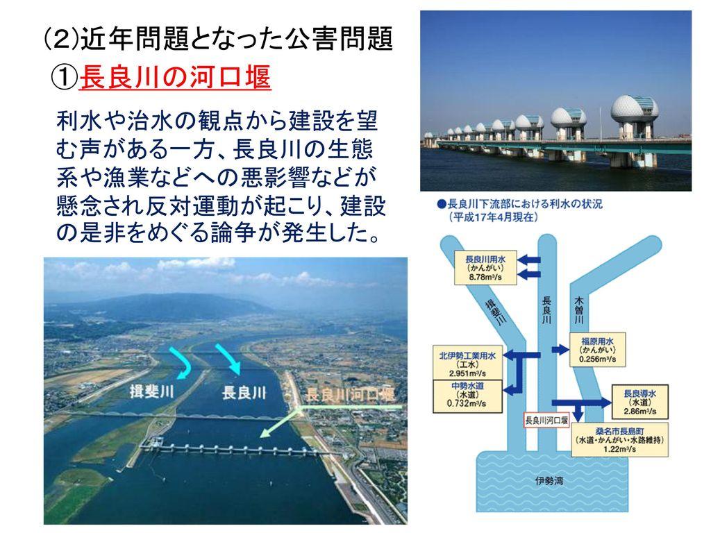 (2)近年問題となった公害問題 ①長良川の河口堰