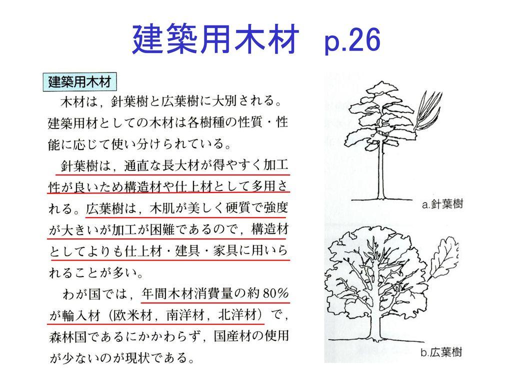 建築用木材 p.26