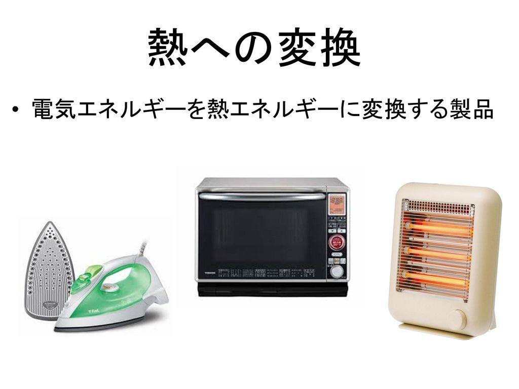熱への変換 電気エネルギーを熱エネルギーに変換する製品