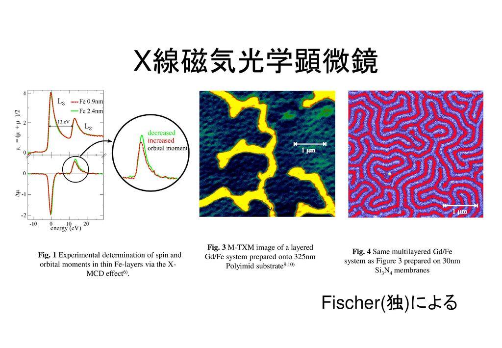 X線磁気光学顕微鏡 Fischer(独)による