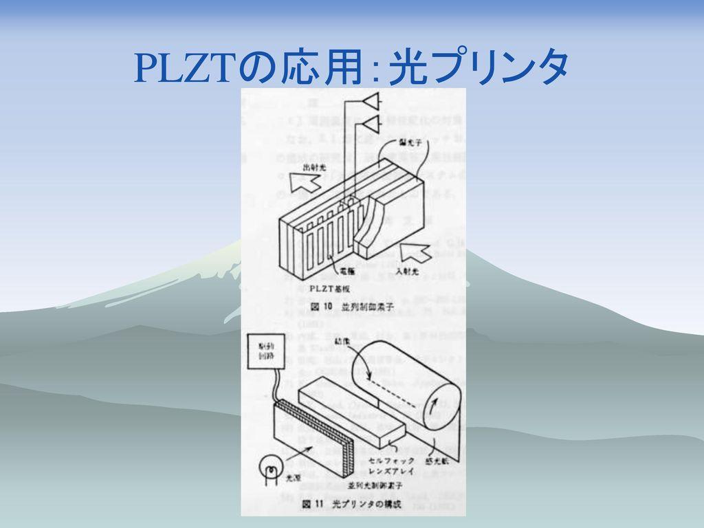 PLZTの応用:光プリンタ