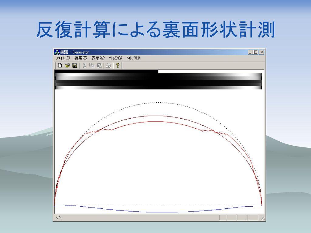 反復計算による裏面形状計測 開発中
