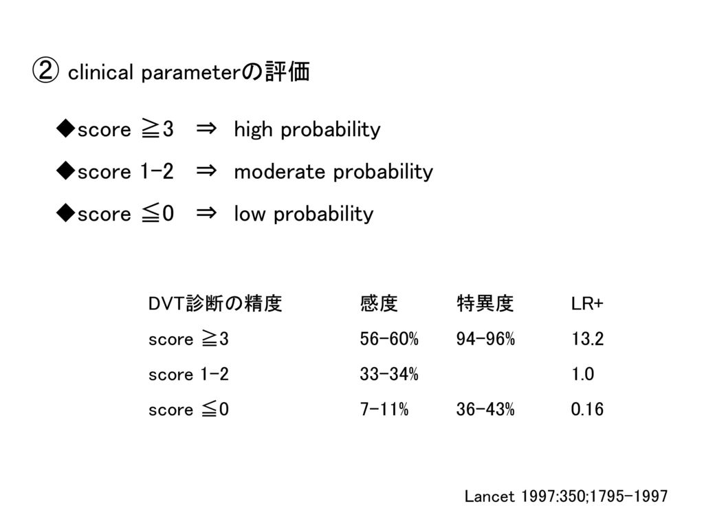 ② clinical parameterの評価