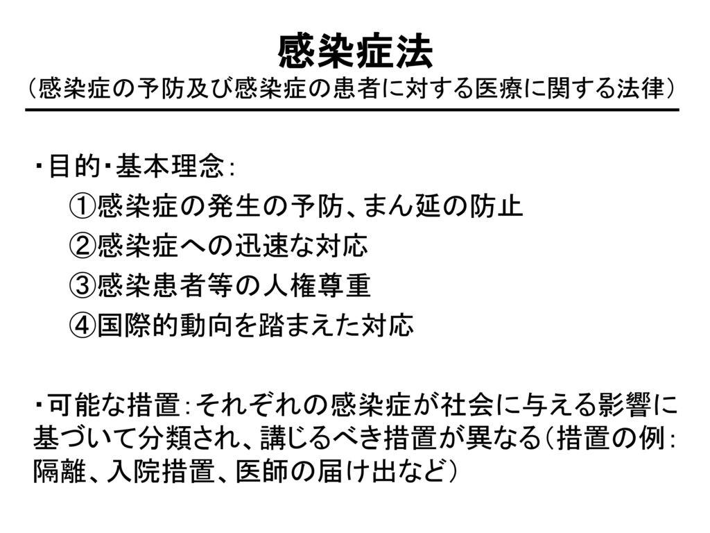 (感染症の予防及び感染症の患者に対する医療に関する法律)