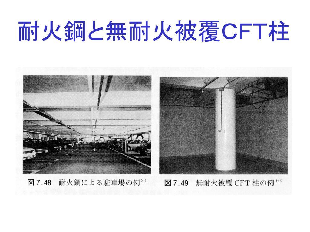 耐火鋼と無耐火被覆CFT柱