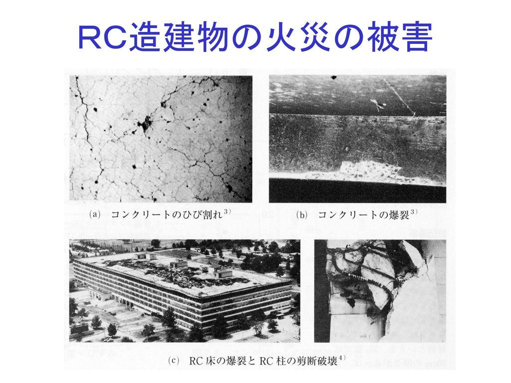 RC造建物の火災の被害