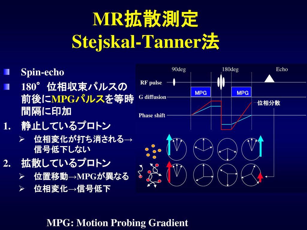 MR拡散測定 Stejskal-Tanner法