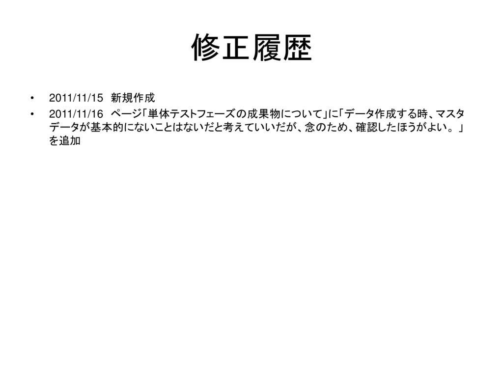 修正履歴 2011/11/15 新規作成.