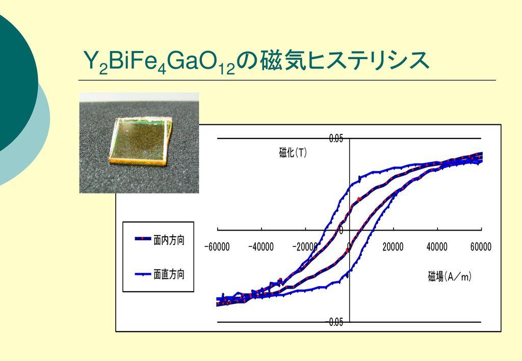 Y2BiFe4GaO12の磁気ヒステリシス