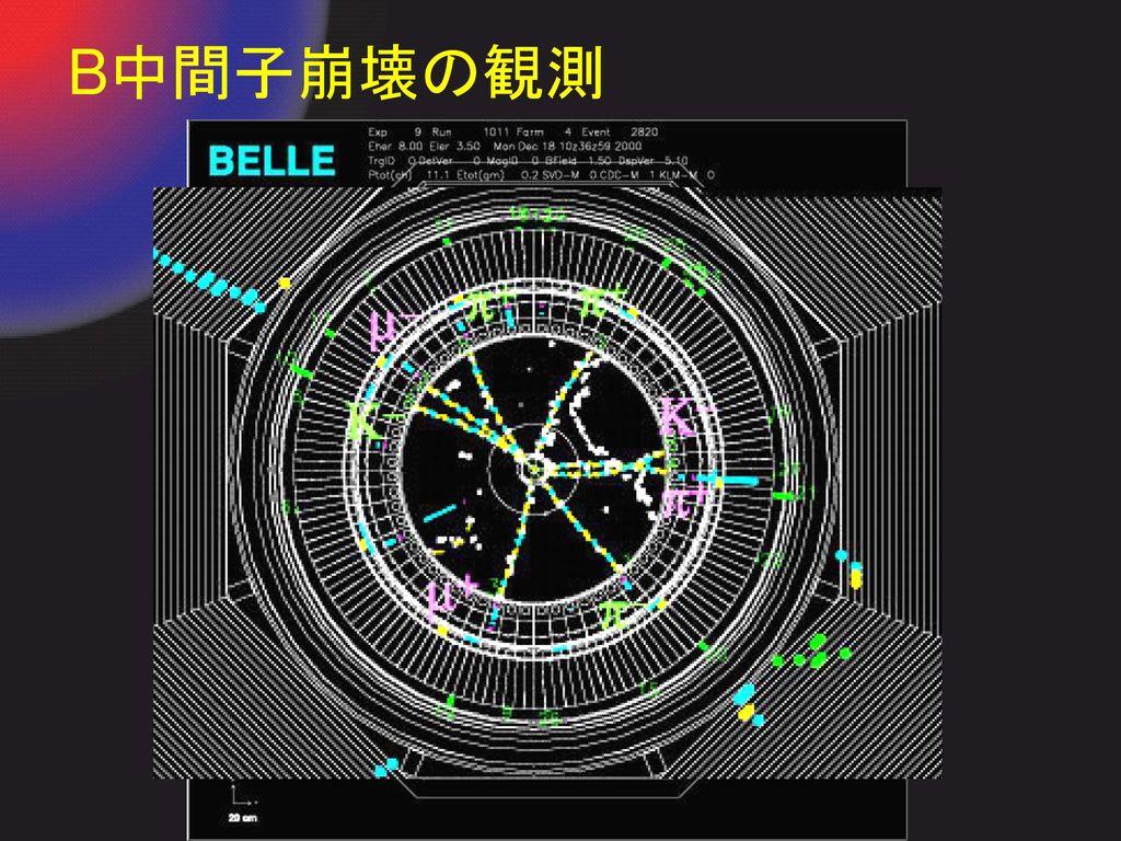 B中間子崩壊の観測