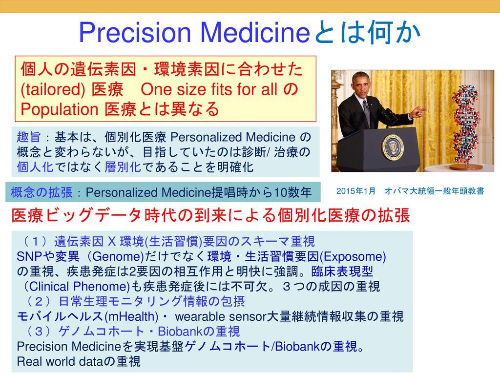 Precision Medicineとは何か