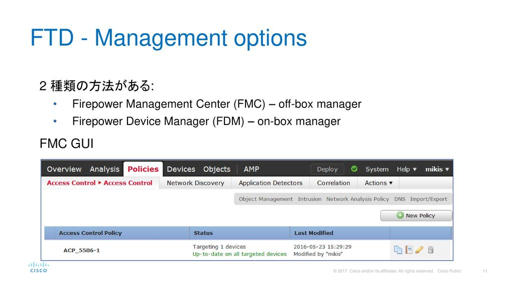 FTD - Management options