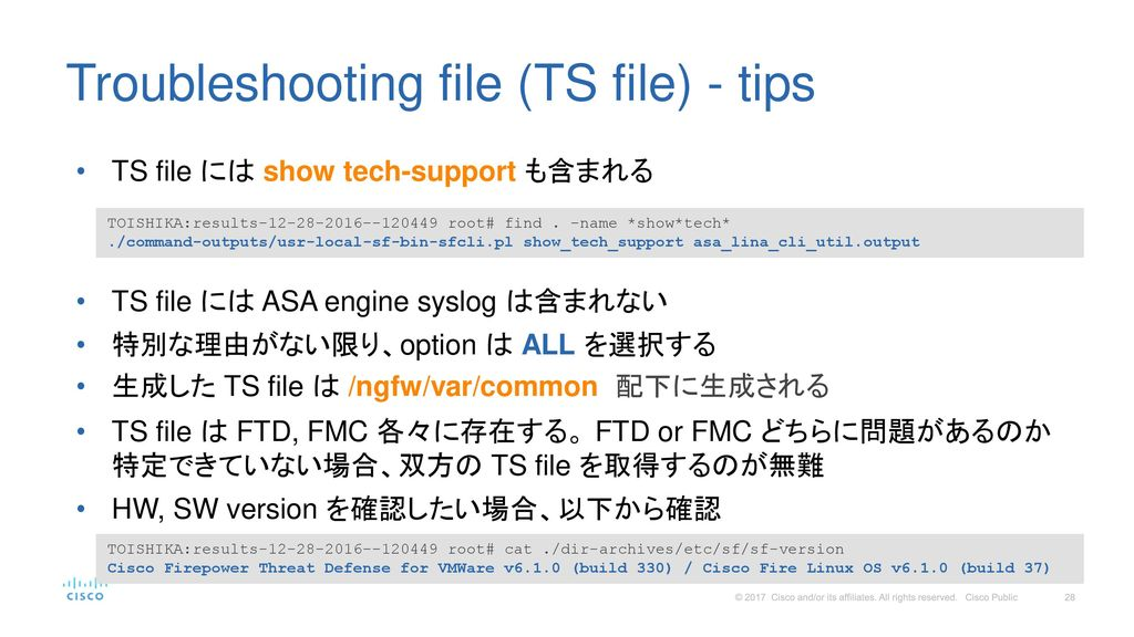 Troubleshooting file (TS file) - tips