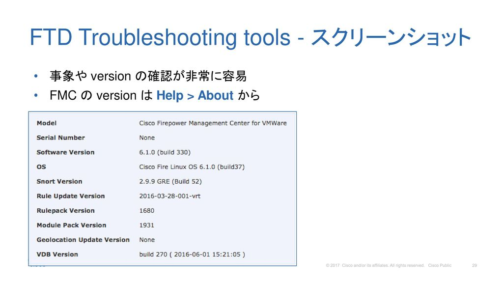 FTD Troubleshooting tools - スクリーンショット