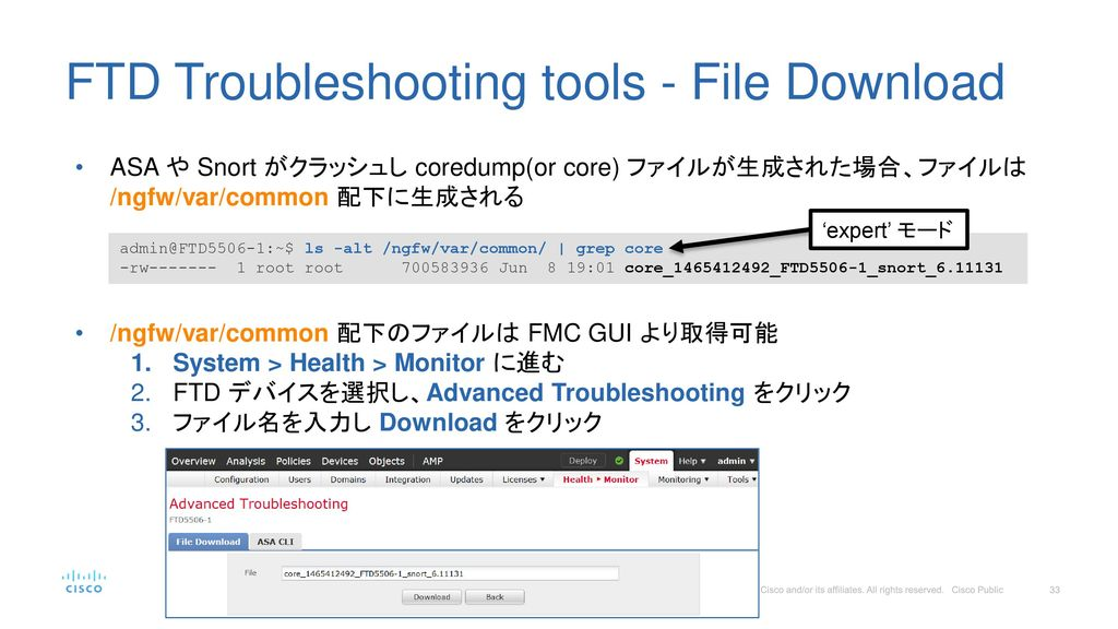 FTD Troubleshooting tools - File Download
