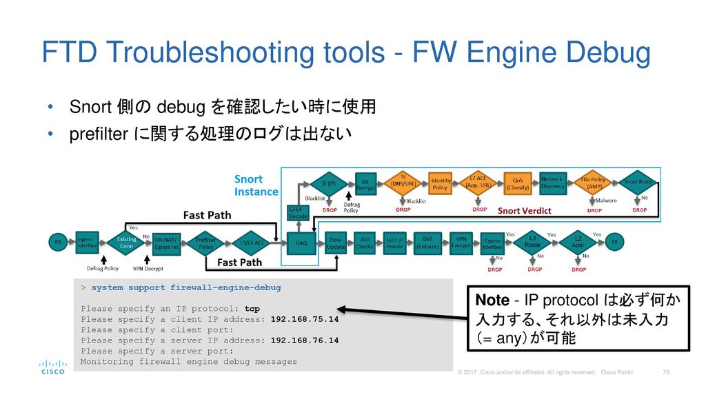 FTD Troubleshooting tools - FW Engine Debug