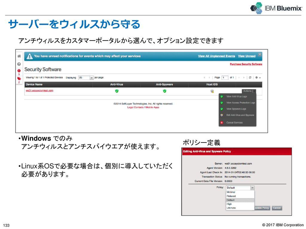 Bluemix で利用できるセキュリティ・アプライアンス