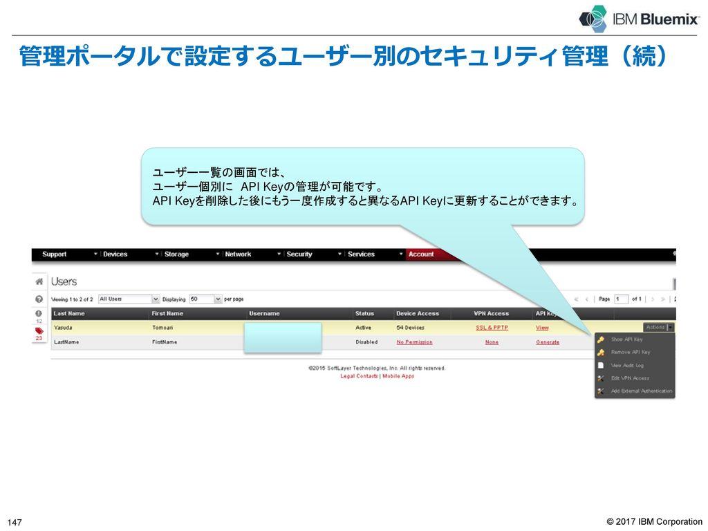 管理ポータルで設定するユーザー別のセキュリティ管理(続)
