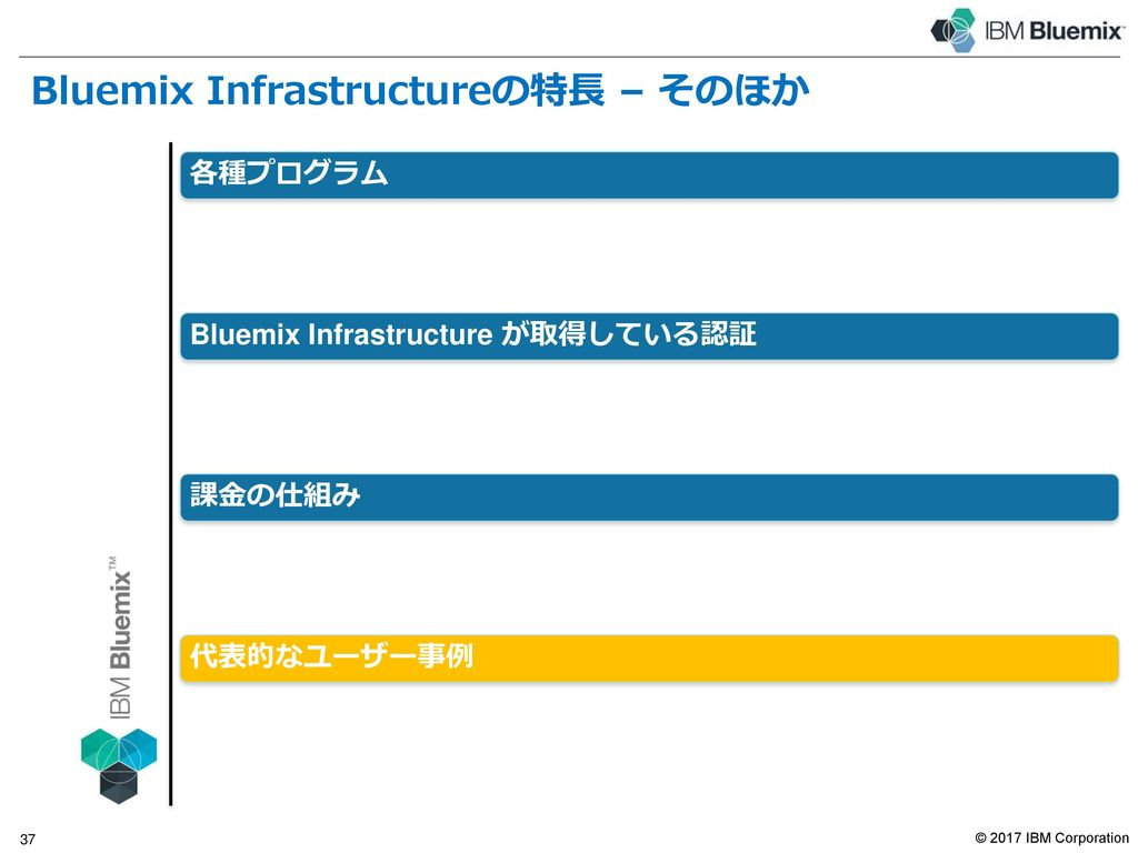 Bluemix Infrastructureの課金の仕組み(2017年5月末現在 )
