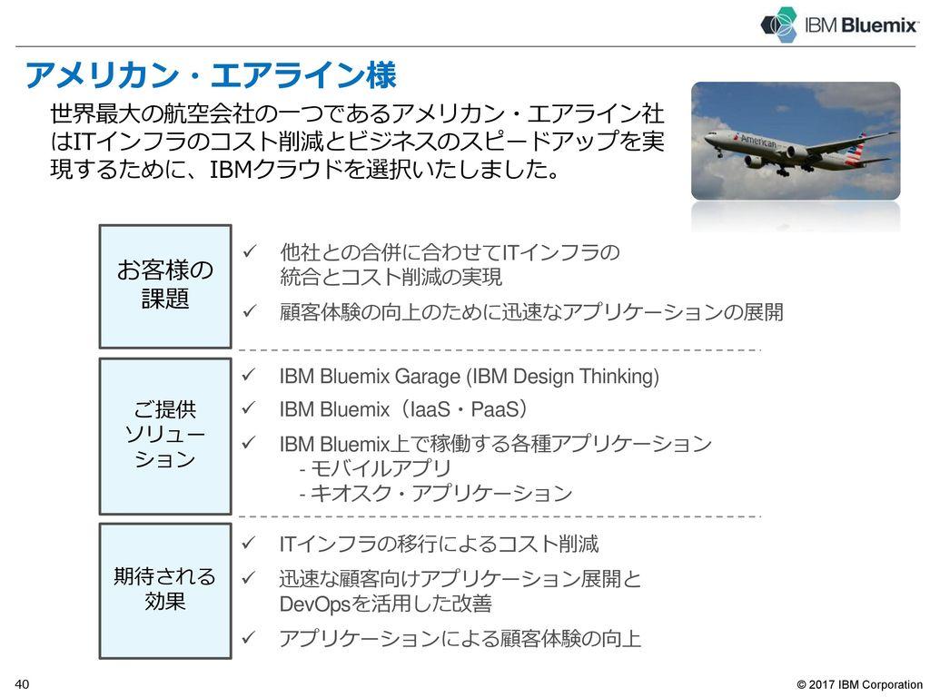 日本におけるIBMクラウドの採用実績 -- original speaker notes to be re-inserted prior to publish --