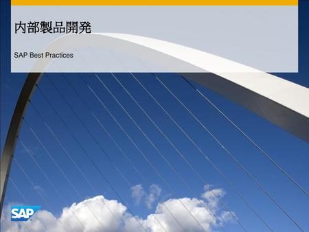 内部製品開発 SAP Best Practices.