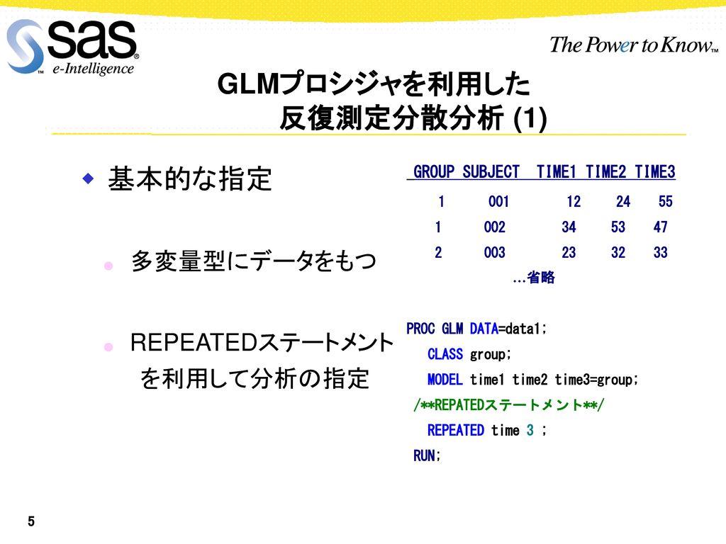 GLMプロシジャを利用した 反復測定データの解析 - ppt download